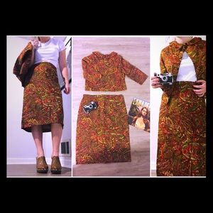 VINTAGE 1960s TWO PIECE HAND-SEWN SET